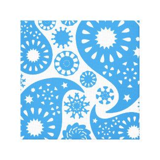 Blaues Paisley Leinwand Drucke