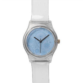 Blaues Paisley-Muster Armbanduhr