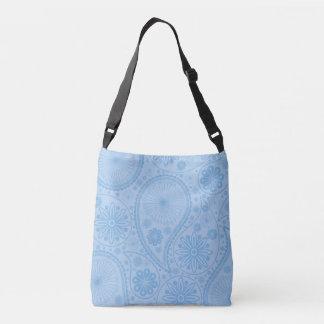 Blaues Paisley-Muster Tragetaschen Mit Langen Trägern