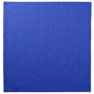 Blaues Paisley Serviette
