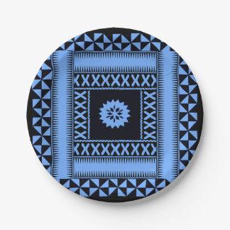 Blaues Papier-Teller Fidschis Pappteller