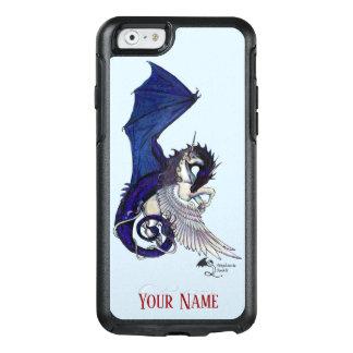 Blaues personifizieren Drache-Einhorn winged Pferd OtterBox iPhone 6/6s Hülle