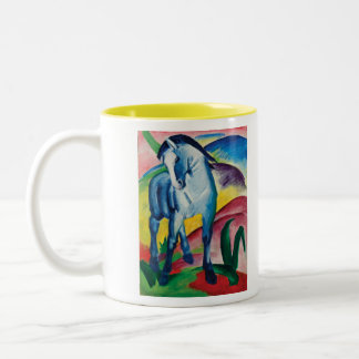 Blaues Pferd I durch Franz Marc Zweifarbige Tasse
