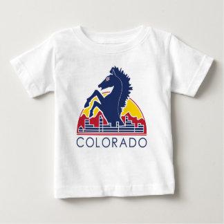 Blaues Pferdecolorado-Logo Baby T-shirt