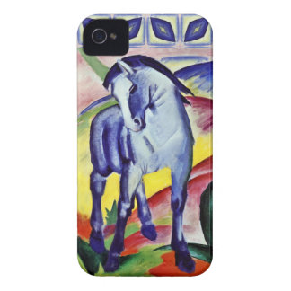 Blaues PferdeVintage feine Kunst-Malerei Franz Case-Mate iPhone 4 Hülle