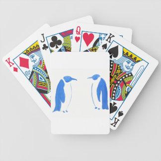 Blaues Pinguin-Duo Bicycle Spielkarten
