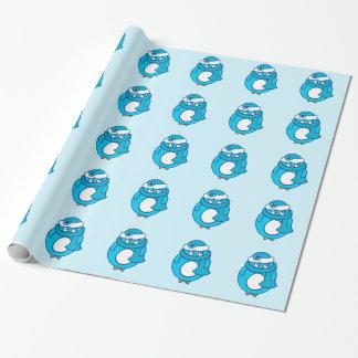 Blaues Pinguin-Packpapier Geschenkpapier