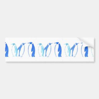 Blaues Pinguin-Trio Autoaufkleber