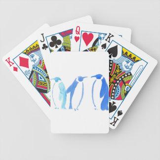 Blaues Pinguin-Trio Bicycle Spielkarten