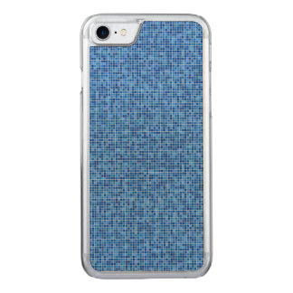 Blaues Pixelmosaik Carved iPhone 8/7 Hülle