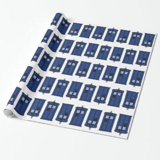 Blaues POLIZEI Kasten-Aussenseiter giftwrap Geschenkpapier
