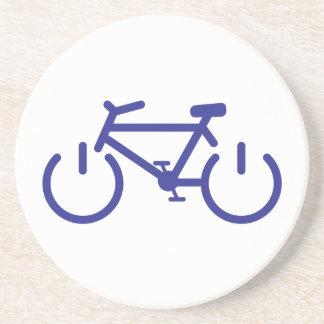 Blaues Power-Fahrrad Sandstein Untersetzer