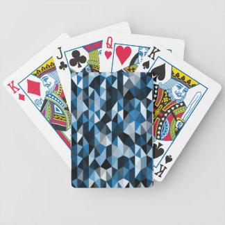 blaues Pyramidemuster 07 Pokerkarten