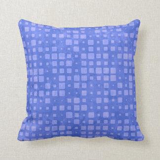 Blaues Quadrat-Muster mit Pfefferminzaroma Kissen