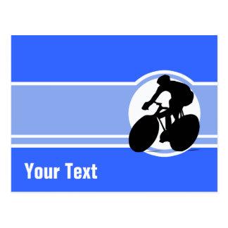 Blaues Radfahren Postkarte