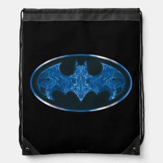 Blaues Rauch-Schläger-Symbol Sportbeutel