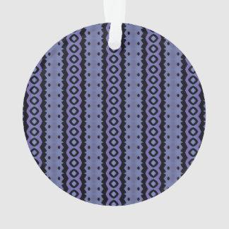 Blaues Raupen-Schleichen Ornament