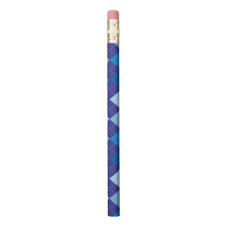Blaues Rautenmuster Bleistift