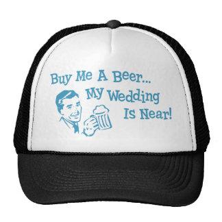 Blaues Retro kaufen mich ein Bier, das meine Netzkappen