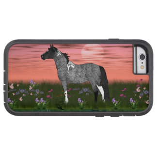 Blaues Roan Tobiano Farben-Pferd Tough Xtreme iPhone 6 Hülle