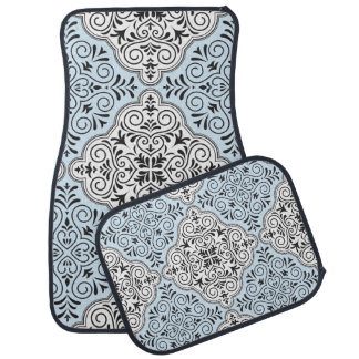 Blaues Rokoko-Muster blühen Automatte