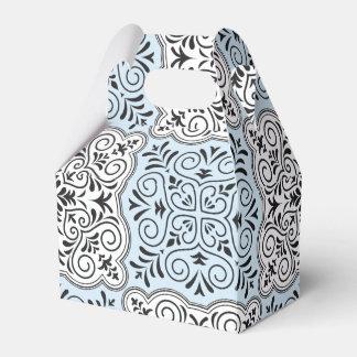 Blaues Rokoko-Muster blühen Geschenkschachtel