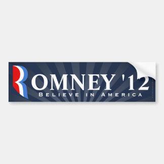 Blaues Romney 2012, glauben an Amerika-Abziehbild Autoaufkleber