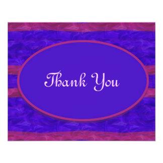 Blaues Rosa danken Ihnen 11,4 X 14,2 Cm Flyer