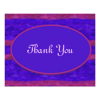 Blaues Rosa danken Ihnen Vollfarbige Flyer