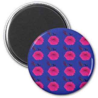 Blaues Rosa der Entwurfselemente Runder Magnet 5,1 Cm
