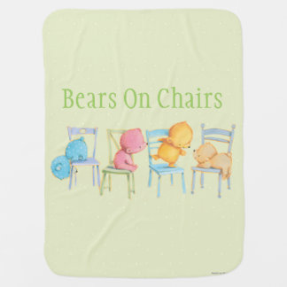Blaues, rosa, Gelbes und Braunbär-Spiel Kinderwagendecke