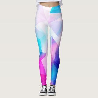 Blaues rosa geometrisches leggings
