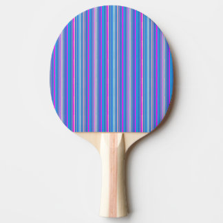 blaues rosa gestreiftes Klingeln pong Paddel Tischtennis Schläger