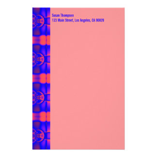 blaues rosa Muster Briefpapier