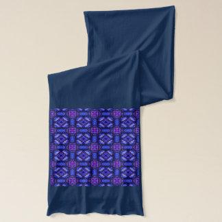 Blaues rosa purpel überprüftes kariertes Muster Schal