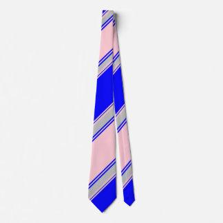 Blaues Rosa und Silber, die Striped Krawatte II
