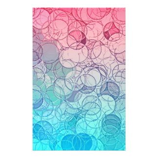 Blaues rosa Vintages abstraktes geometrisches Flyer Druck