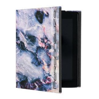 Blaues rosa Weiß der coolen Marmorbeschaffenheit Hülle Fürs iPad