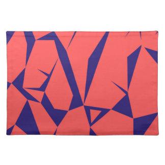 Blaues Rot der Entwurfsdreiecke Tischset