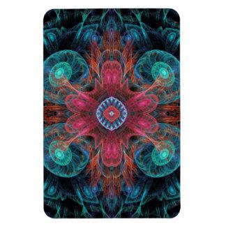 Blaues Rot des abstrakten elektrischen Quallen-coo Vinyl Magnet