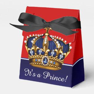 Blaues Rot-Goldkrone kleine Babyparty Prinz-Boy Geschenkschachteln