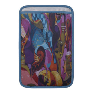 Blaues Rot lila abstrakter Graffiti MacBook Sleeve