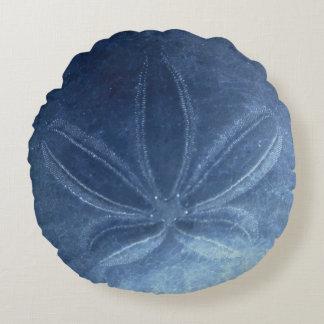 Blaues Sand-Dollar-rundes Kissen