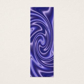 blaues Satin-Lesezeichen Mini Visitenkarte