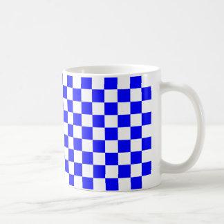 Blaues Schachbrett Kaffeetasse
