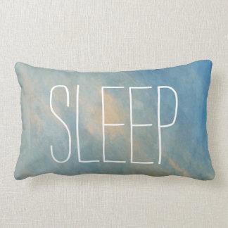 Blaues Schlaf-Aquarelllumbar-Kissen Lendenkissen