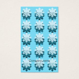 Blaues Schneeflocke-Muster Visitenkarte