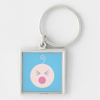 Blaues Schrei-Baby Keychain Schlüsselanhänger