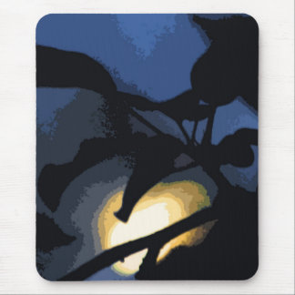 Blaues Schwarz-Gelb-mysteriöser Mond Mauspad