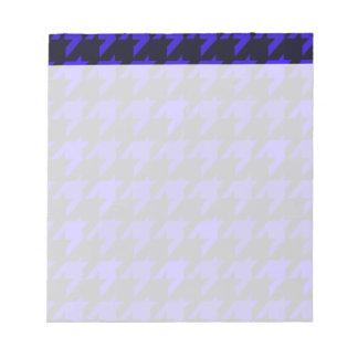 Blaues Schwarz-Hahnentrittmuster Notizblock